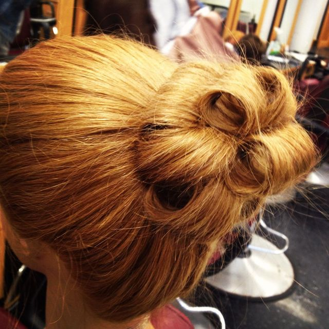 barrel curl updo