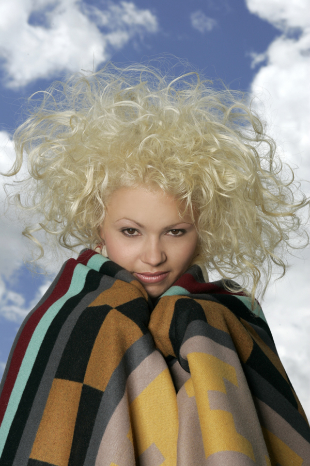 Hair: Bleached to white by Dwight Miller for the Latino Fashion Group
