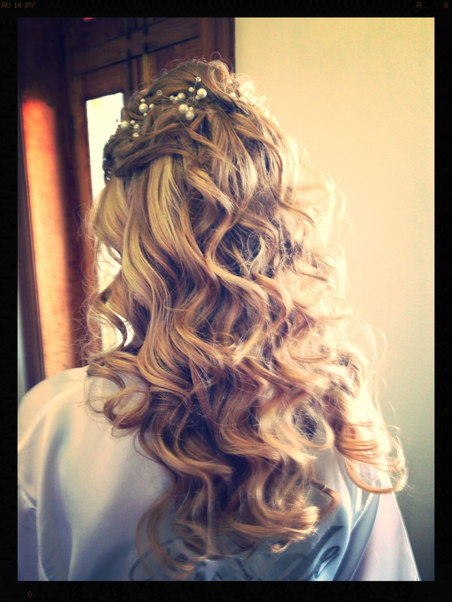 Long Hair Bridal Curls by Lucinda