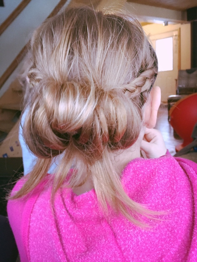 Girls updo by Jade Krupinski