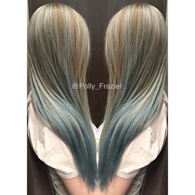 Bleach 40V RoMaxx Toned all over with  Pravana's silver with a pinch of blue, finished with RoZenn blown into the hair