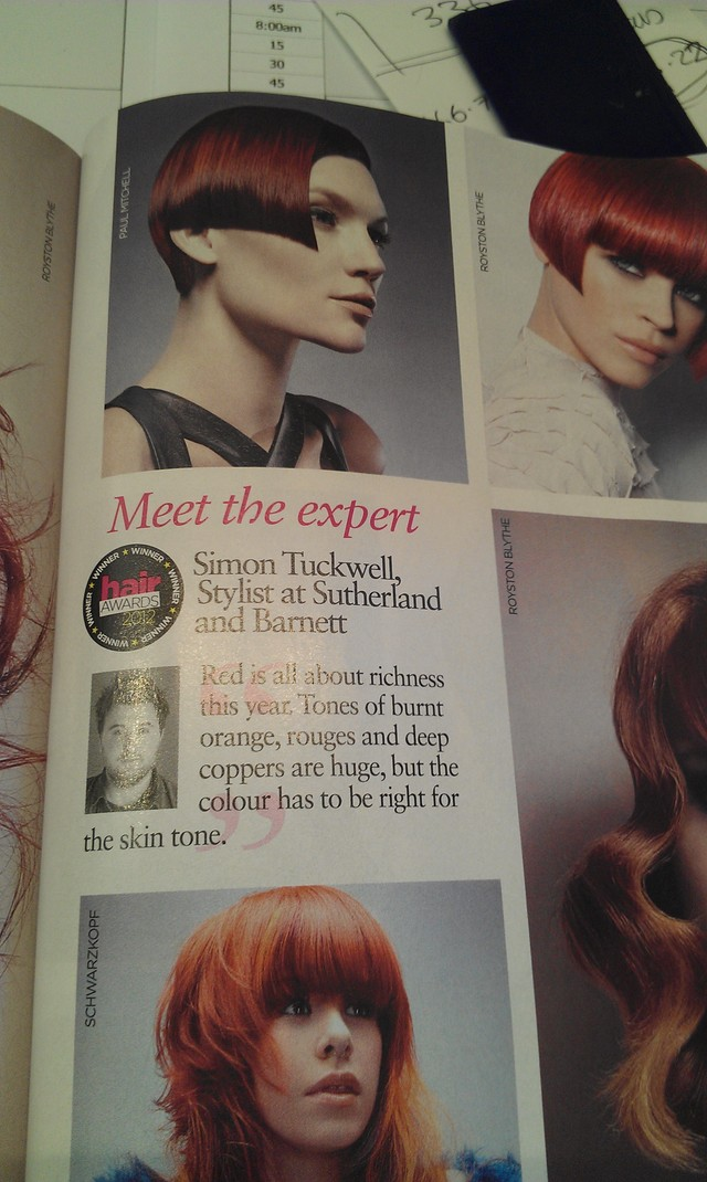 It's me in Hair Magazine!