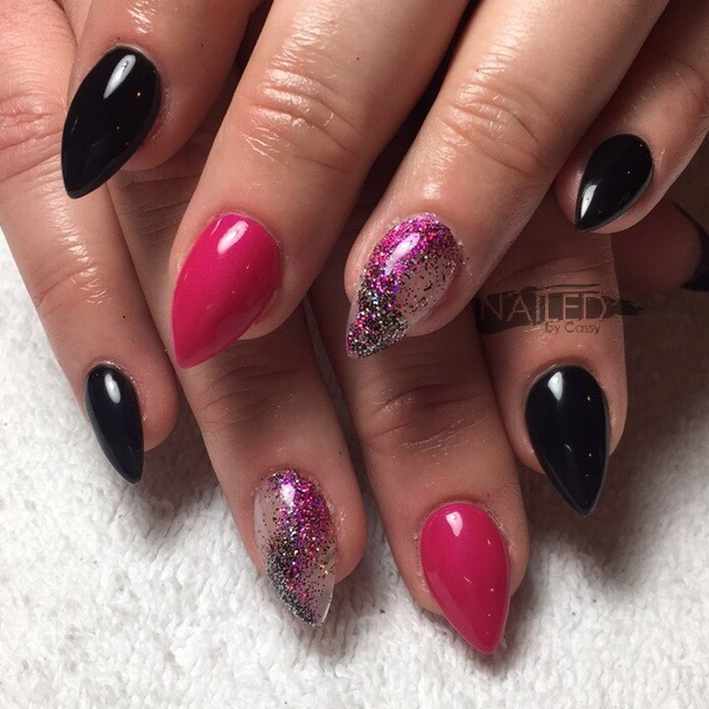 Pink and blacK glitter