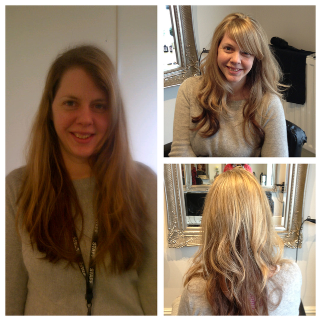 Keli felt it was time for a revamp, going from long overgrown layers with no colour definition, to a sun-kissed golden blonde with soft layers enabling her to have that beach wave, with a soft sweeping fringe framing her face. Keli left the salon feeling