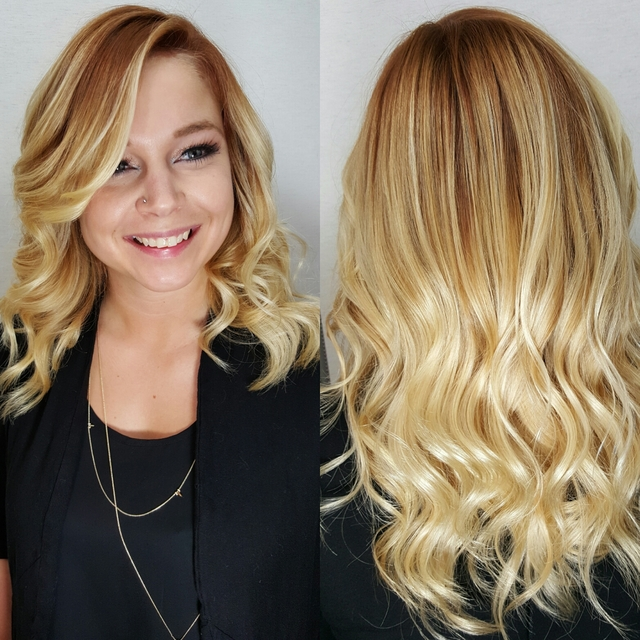 red root on a natural blonde
