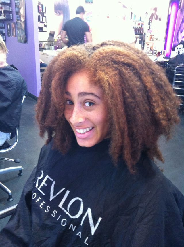 before Brazilian keratin