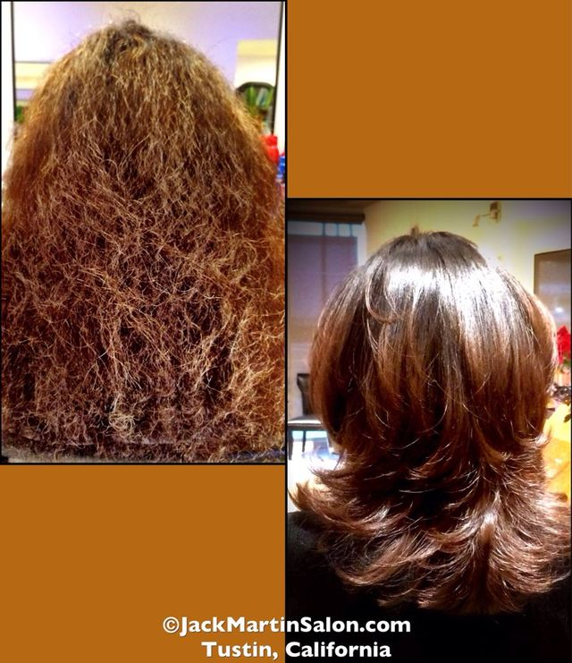 before and after cut and color