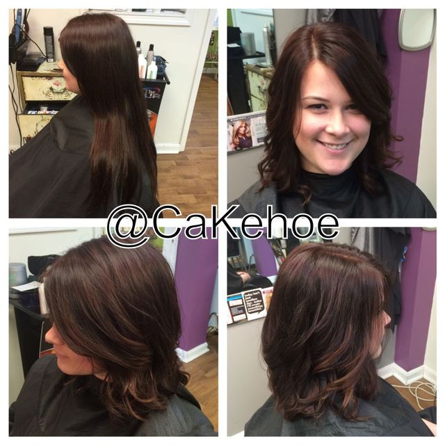 before and after locks of love: long bob