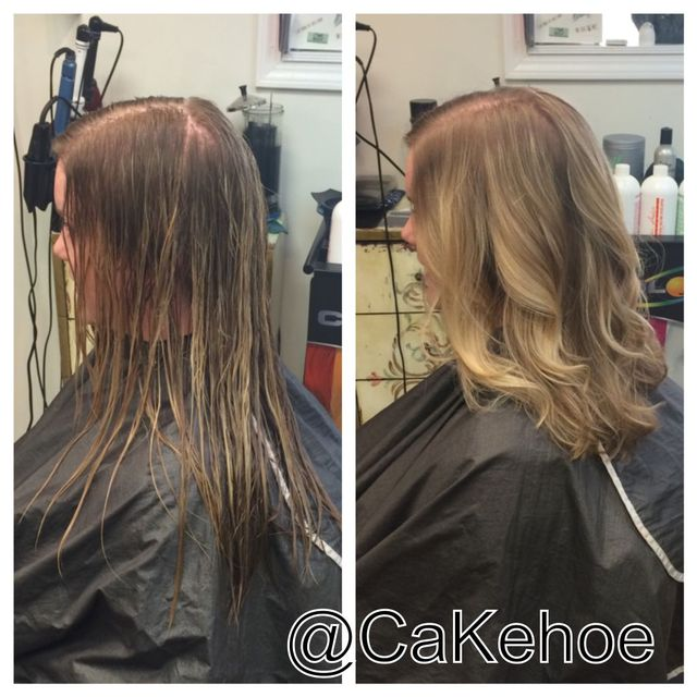 before and after long bob