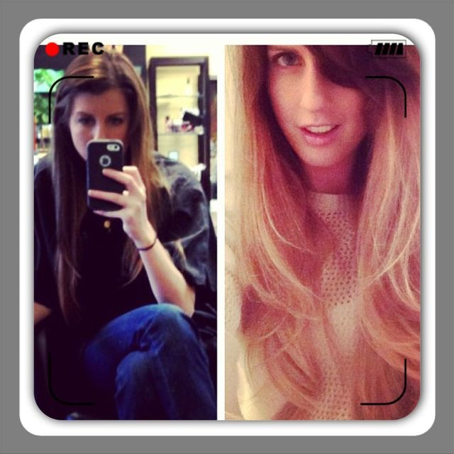 before/after ombre