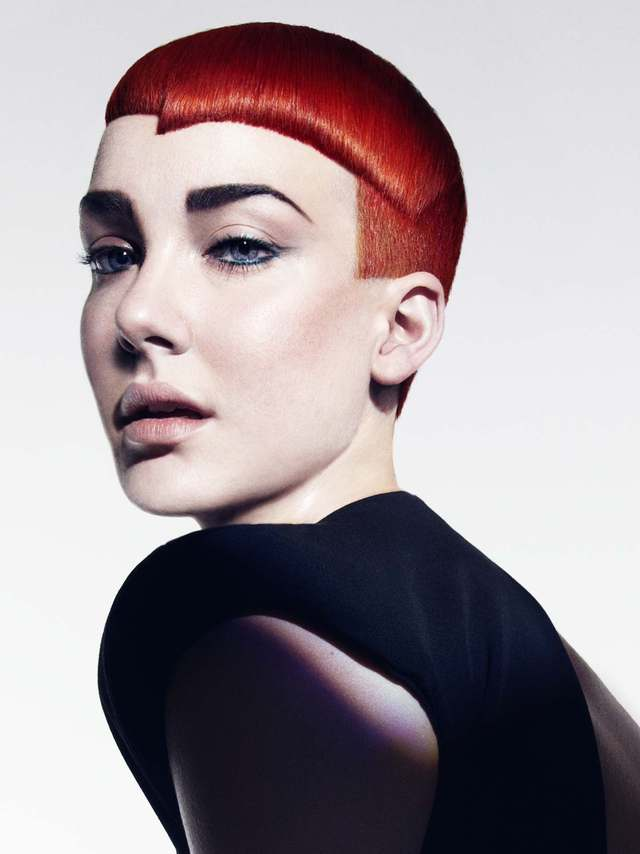 Neo Linear - hair: Emiliano Vitale makeup: Clare Read photographer: Paul Scala salon: é SALON