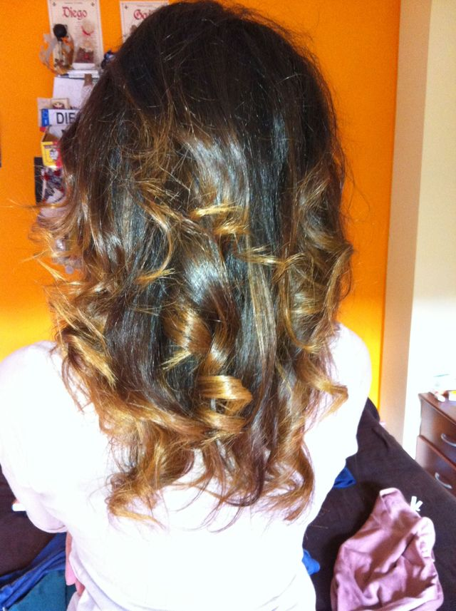 big curls ombre
