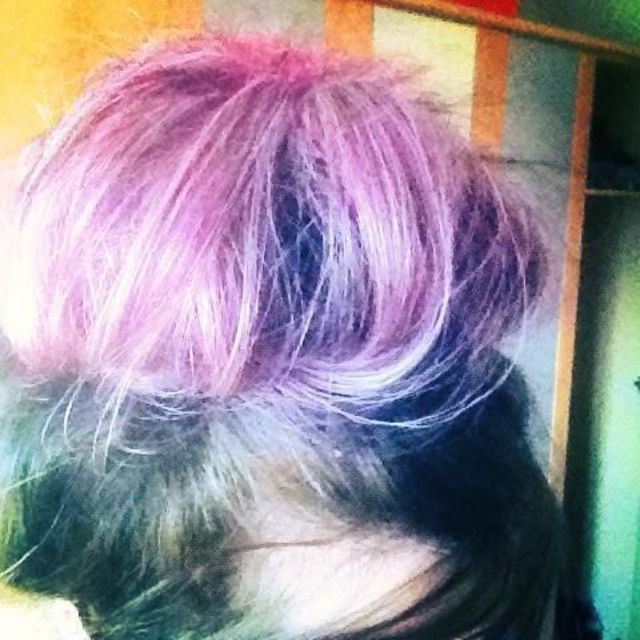 big purple bun