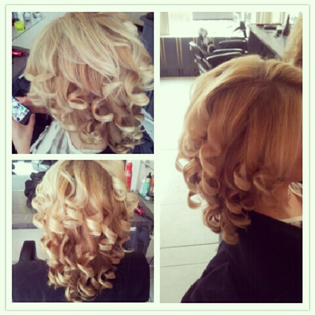 blond curls