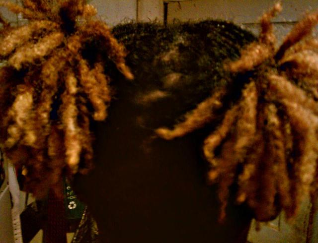 Locs in two Ponytails