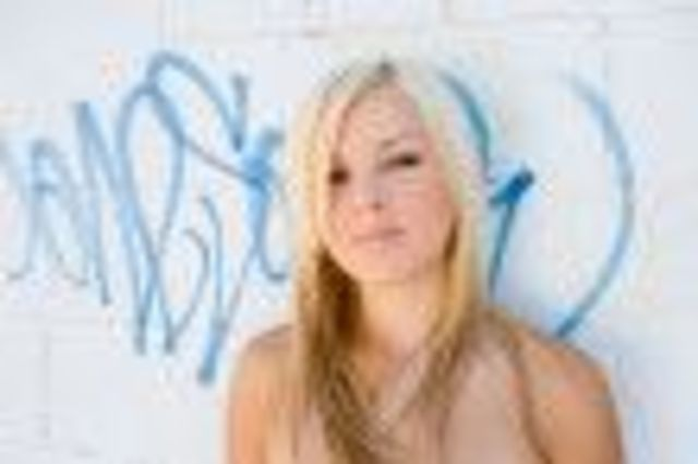 Blonde Long Graffity