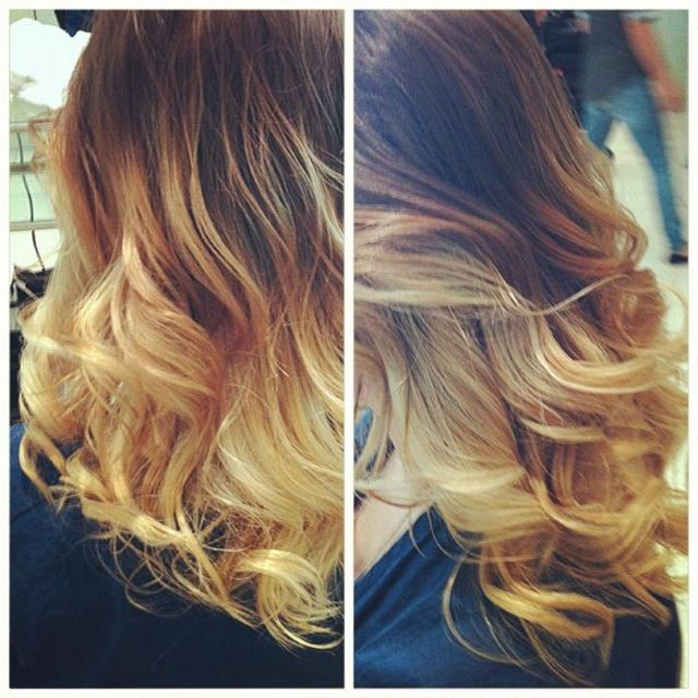 blonde on natural blonde ombré