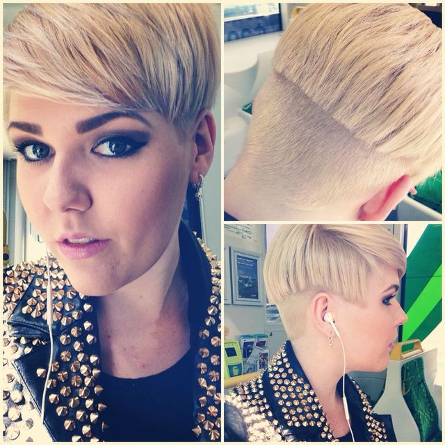 blonde, pixie cut, undercut