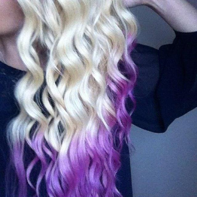 blonde purple dip dye ♥