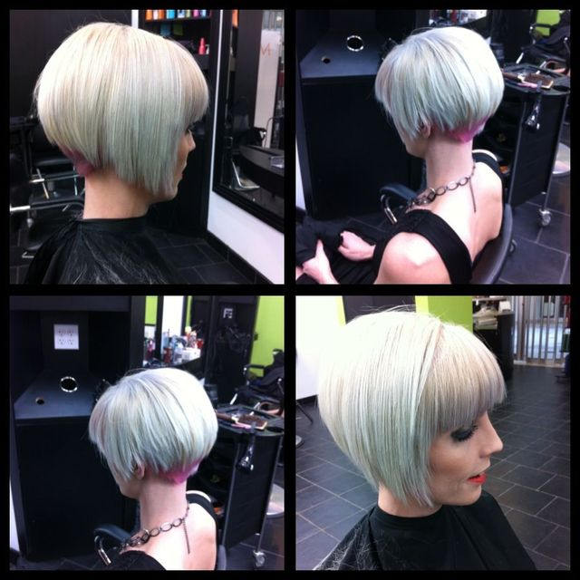 blonde sleek sexy modern bob