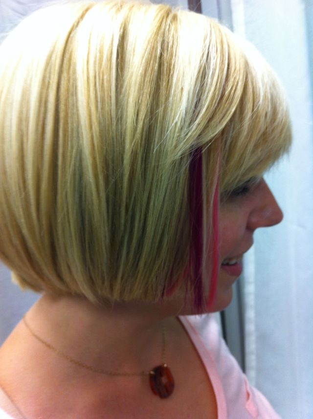 blonde with color extensions
