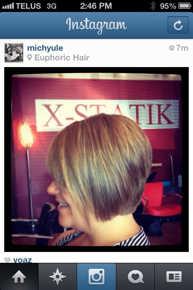blonde/inverted bob