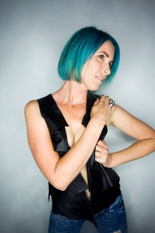 blue: colour cut and styling my myself. photographer Scott James Prebble