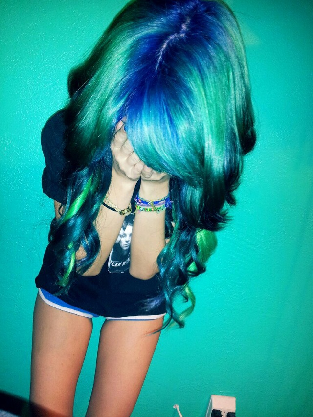 blue, green, teal ombre