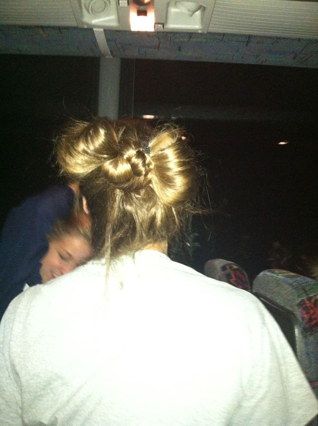 bow bun attempt 1