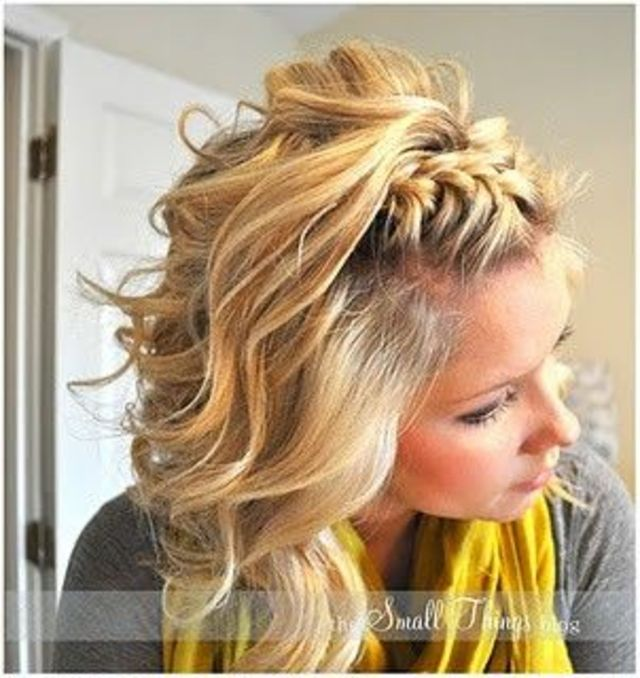 braid & large curl