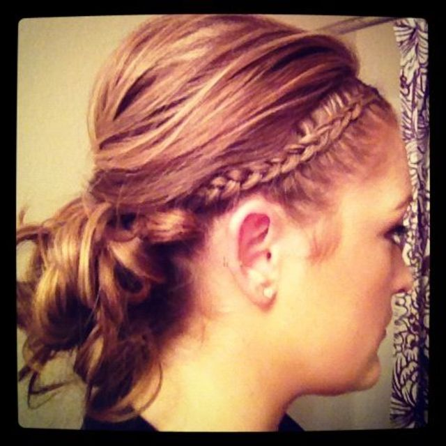 braid & messy bun
