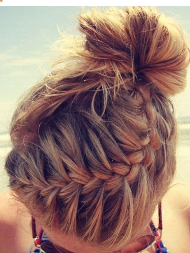 braid and a bun