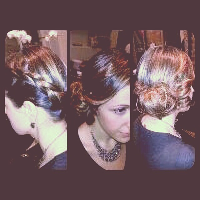 braid messy updo