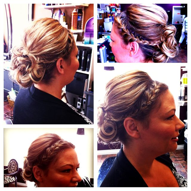 braid updo by Aimee Jadore