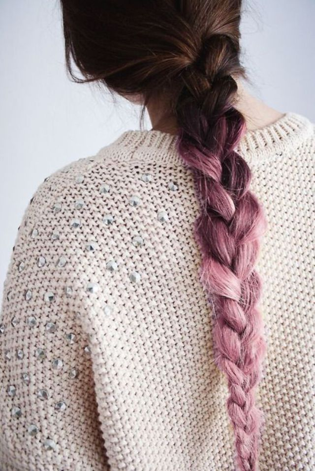 braided ombré