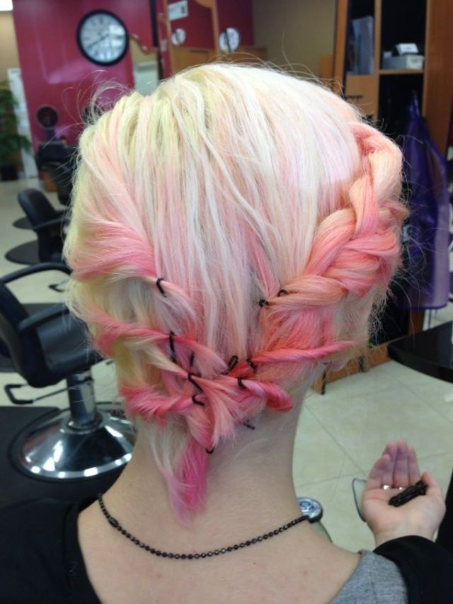 braided pastel hair