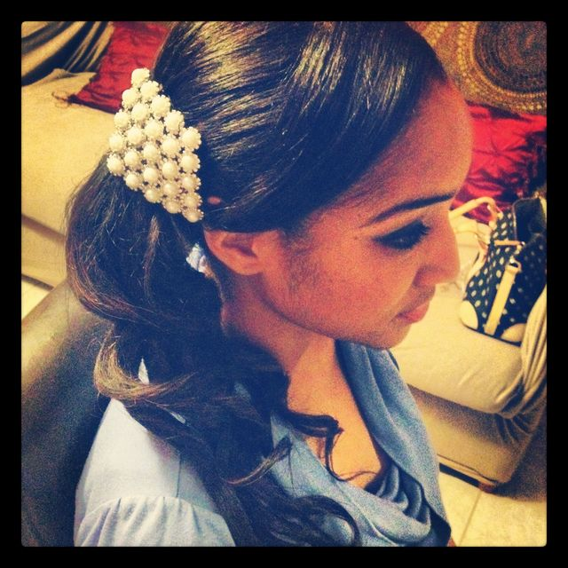 bridal side pony