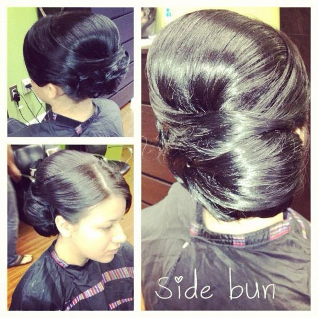 bridesmaid sidebun