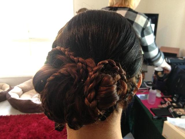 bridesmaids bun