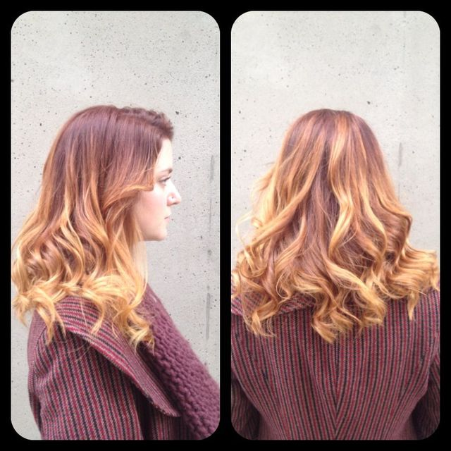 brilliant ginger ombré
