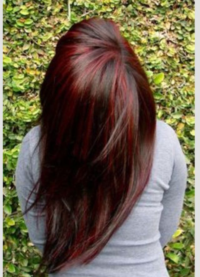 brown with red highlights