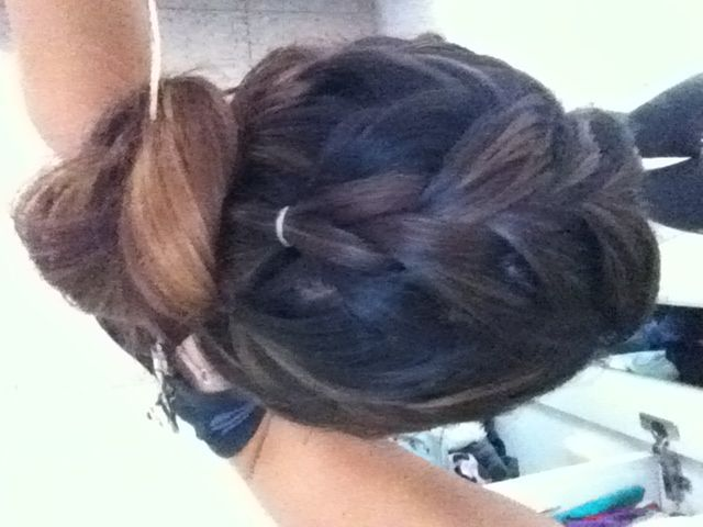 bun and pony braid