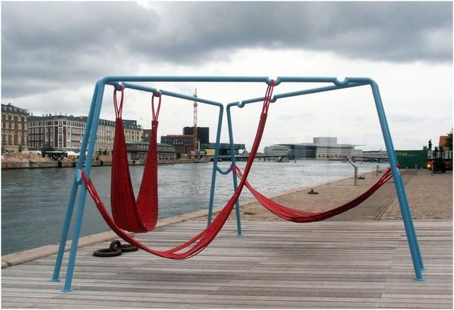 copenhagen street public furniture hammocks swings 11-1