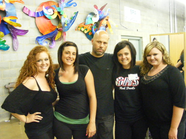 Me and some of the girls in Beauty School...