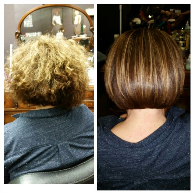 Before and after using #cezanne perfect finish keratin smoothing g
