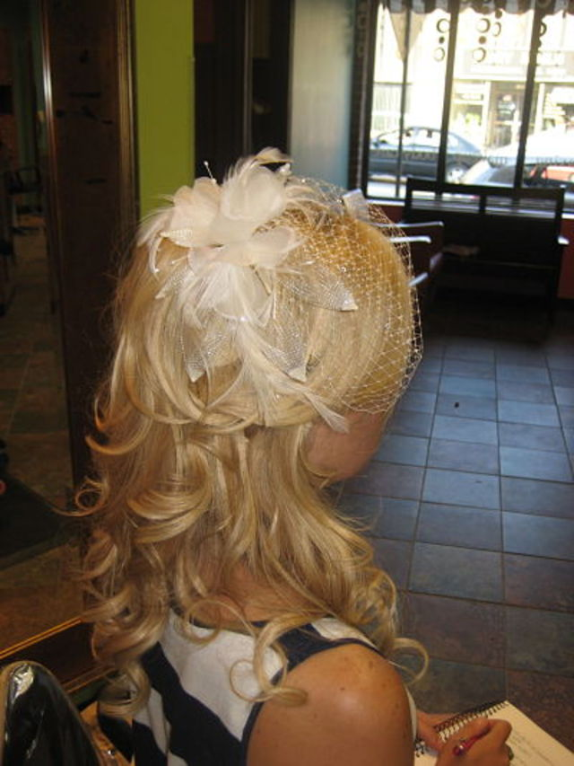 Wedding hair using extensions