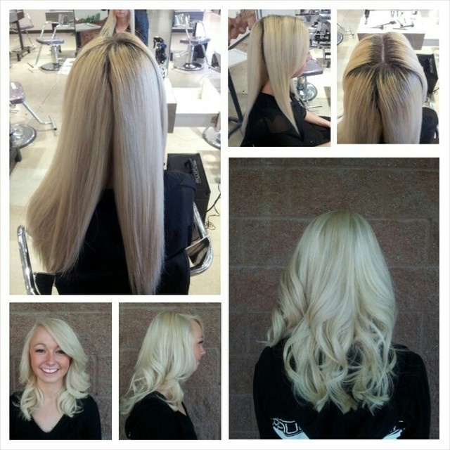 regrowth touch up and lightener refresh using Paul Mitchell Dual Purpose Lightener