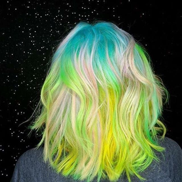 Galaxy space princess hair