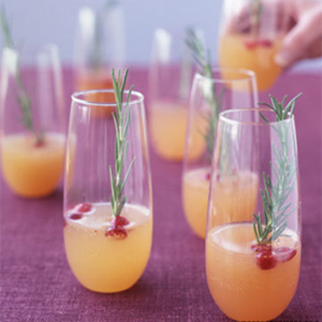 Sparkling Pear Cranberry Cocktail
