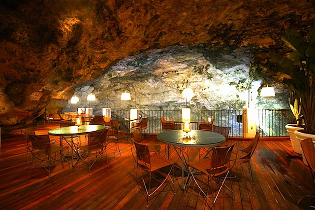 Dine inside a cave